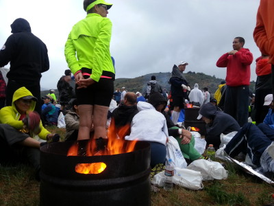 Firepits at the Ogden Marathon start