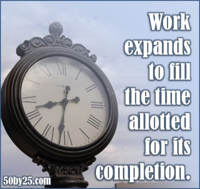 Work Expands to Fill the Time Allotted