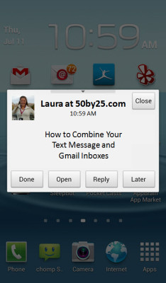 How to Combine Text and Gmail Inboxes