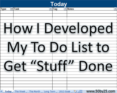 2013-07-26 To Do List
