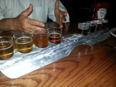 Beer Flight at Albany Pump Station