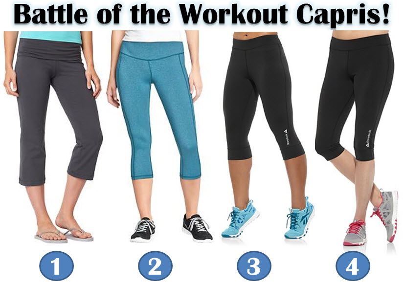 Battle of the Workout Capris: Reebok vs Old Navy
