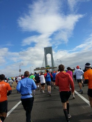Verrazano Narrows Bridge NYC Marathon 2013