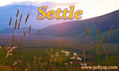 Word of the Year: Settle