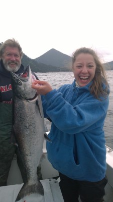 Caught A King Salmon