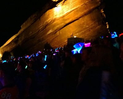 Glowsticks At Red Rocks