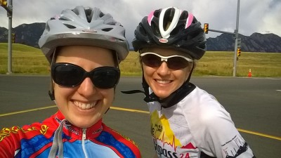 Kelly & Laura Biking