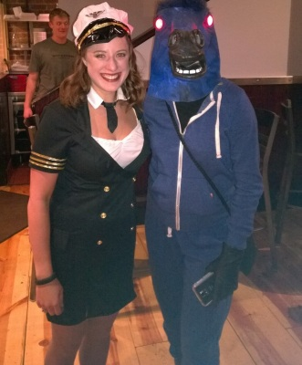 Zombie Flight Attendant And Bluecifer