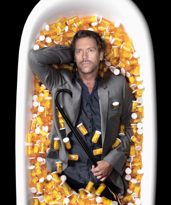 Hugh Laurie as House, in Bathtub of Vicodin