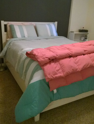Bedroom Stacked Comforters