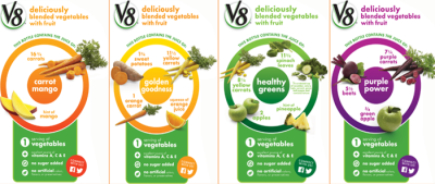V8 Veggie Blends Juices