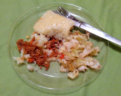 Healthy Turkey Shepherd's Pie, Served with Spiced Cabbage