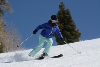 Leaning in on the ski slopes