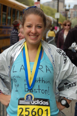 Boston Marathon Finish 2010