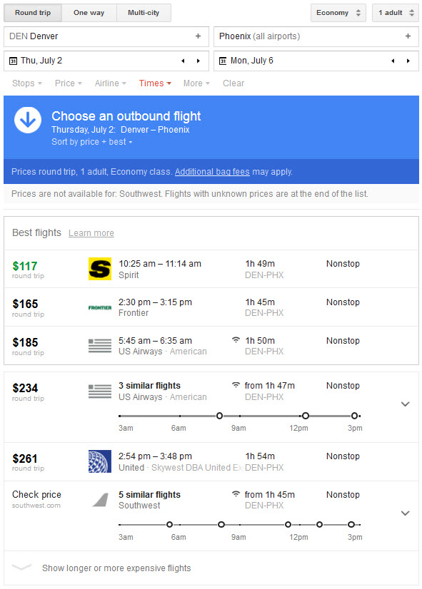 travel tool google flights vs ita matrix. Black Bedroom Furniture Sets. Home Design Ideas