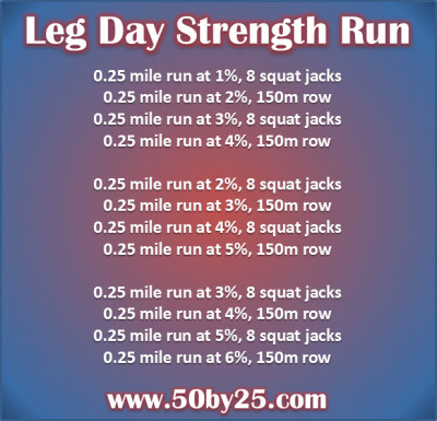 3 mile treadmill workout: leg day strength interval run!
